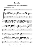 Let It Be Guitar Sheet Music Beatles