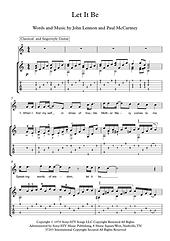 Let It Be Guitar Sheet Music Beatles
