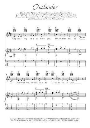 Outlander theme guitar TAB score download Movie Themes