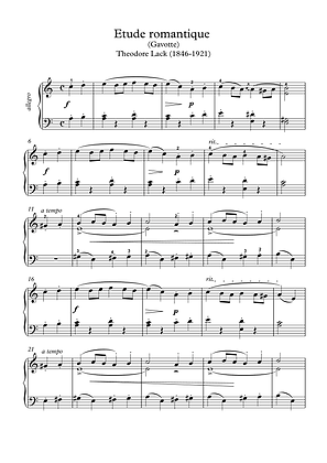 Etude Romantique piano solo sheet music