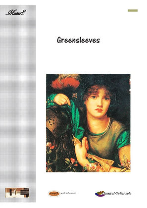 Greensleeves traditional guitar solo sheet music