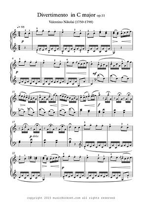 Divertimento In C Major Easy Piano Sheet Music Nikolai