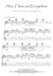 Here, There And Everywhere guitar score download