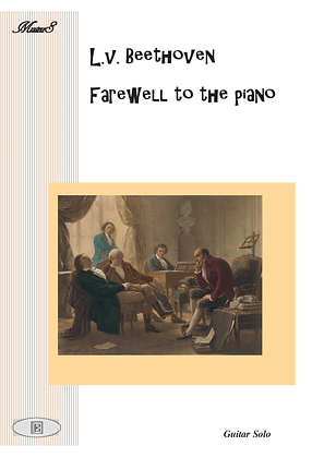 Farewell to the piano by Beethoven guitar solo sheet music
