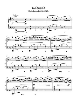Interlude piano solo sheet music