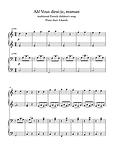 Ah Vous Dirai Je Maman Piano Duet 4 Hands Sheet Music Pdf Mp3 Traditional