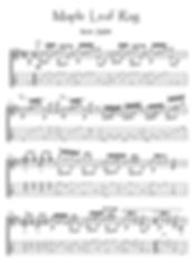 Maple Leaf Rag guitar solo by Joplin