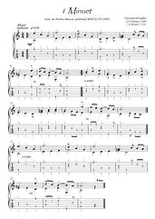 Baroque music for Guitar solo score download