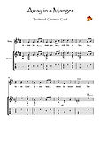 Away In A Manger Guitar solo music score download Traditional