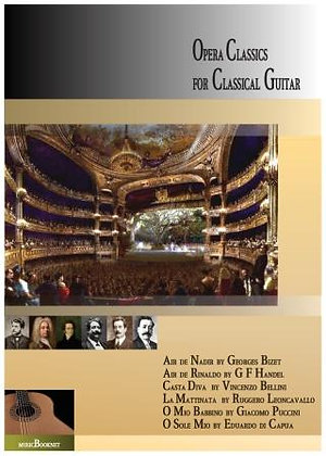 Opera Classics for guitar solo music score download