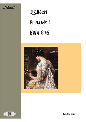 Prelude 1 BWV 846 by Bach guitar solo sheet music
