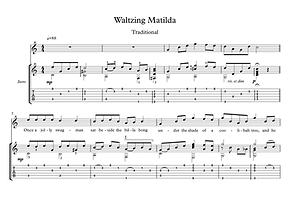 Waltzing Matilda Guitar Score Traditional