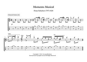 Momento Musical Guitar Solo Sheet Music Schubert