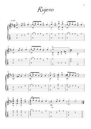 Andante by Schubert guitar solo score download