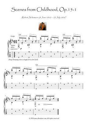 Scenes from Childhood op15-1 guitar solo