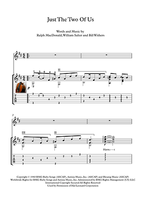 Just The Two Of Us Guitar Solo Sheet Music by Withers