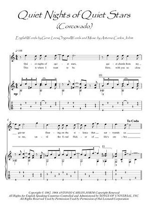 Quiet Nights Of Quiet Stars (Corcovado) guitar fingerstyle score