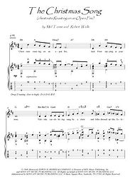 The Christmas Song guitar fingerstyle score