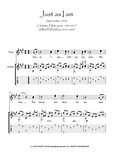 Just As I Am Guitar music score download Traditional