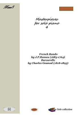 Masterpieces For Solo Piano 4 Pdf Mp3 Rameau Gounod
