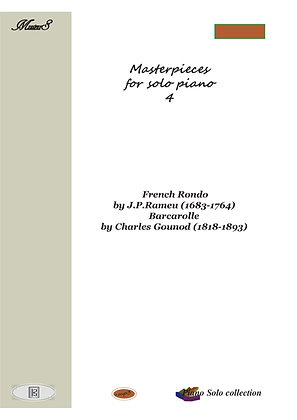 Masterpieces for solo piano 4 by J. Rameau and C. Gounod sheet music
