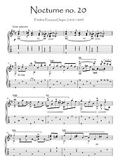 Nocturne 20 by Chopin for guitar solo