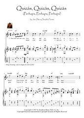 Quizas Quizas Quizas  guitar score download