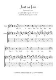Just As I Am Violin and Guitar duet music score download Traditional