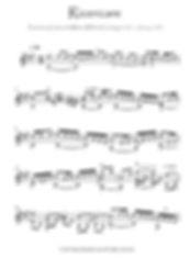 Ricercare Guitar solo score download no tab
