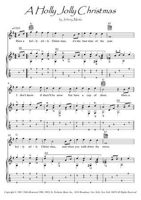 A Holly Jolly Christmas guitar fingerstyle score download