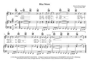 Blue Moon Rodgers, Hart, Sinatra