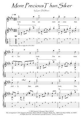 More Precious Than Silver guitar fingerstyle score download