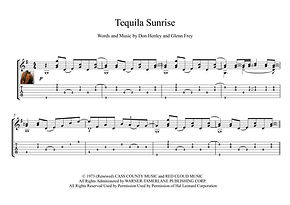 Tequila Sunrise Classical Guitar Solo Score Eagles