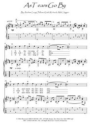 As Tears Go By guitar fingerstyle score download