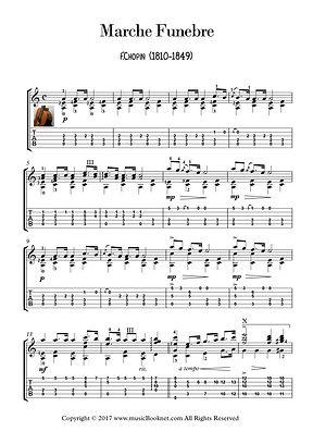 Marche Funebre Guitar Solo Sheet Music Chopin