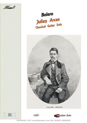 Bolero by Arcas guitar solo sheet music