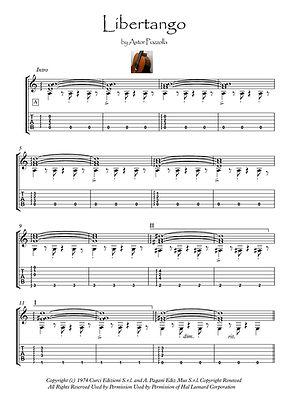 Libertango for Guitar solo Piazolla