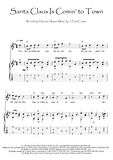 Santa Claus Is Comin' To Town guitar fingerstyle score download