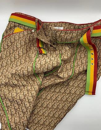 DIOR Rasta Monogram Skirt