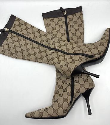 Gucci Monogram Boots