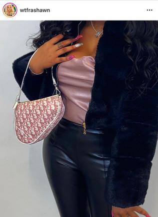 Babe X DIOR Pink Monogram Saddle Bag
