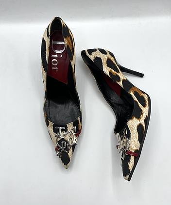 Dior Leopard Heels