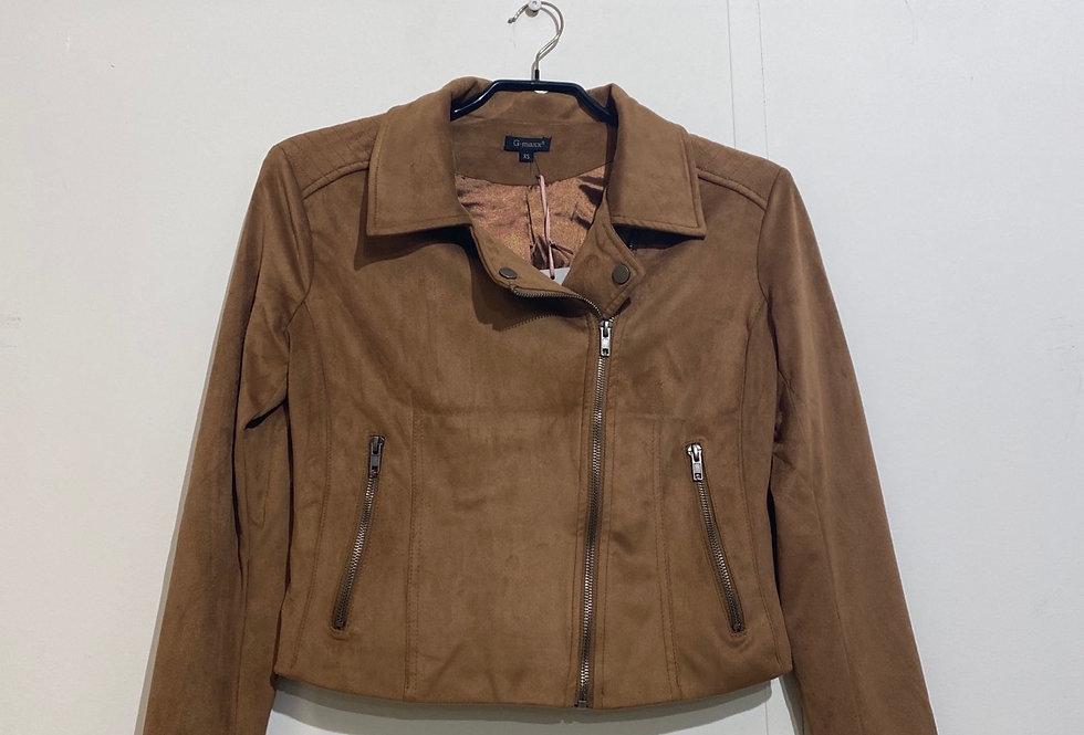 Annelies jacket camel suède