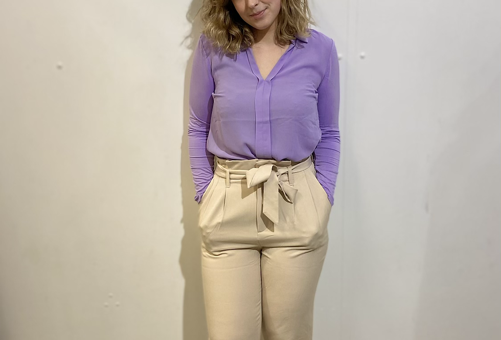 Top Chiffon Jersey Mix Lilac