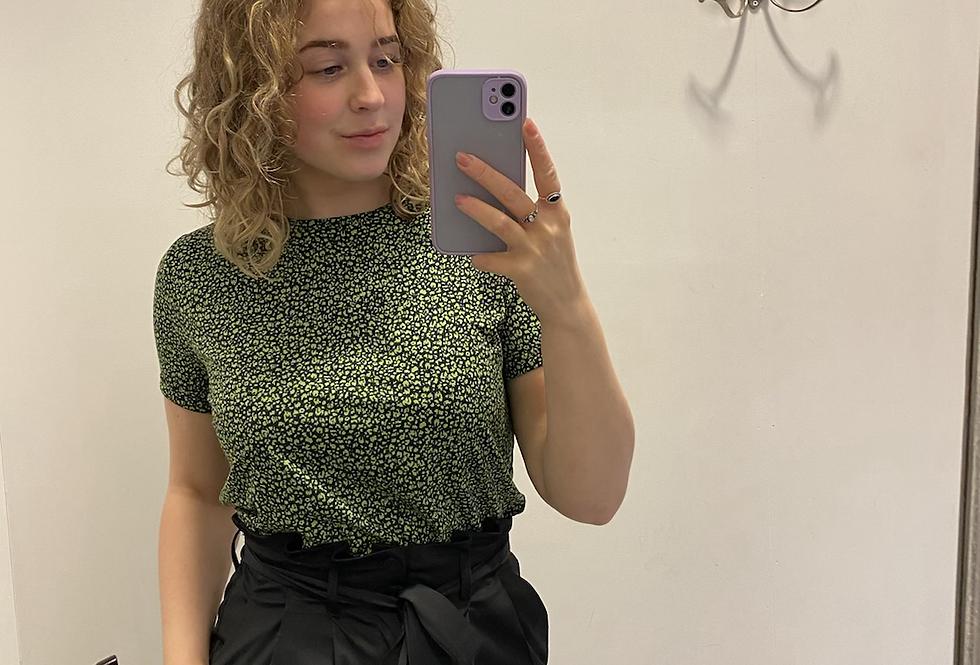 Shirt yest print groen