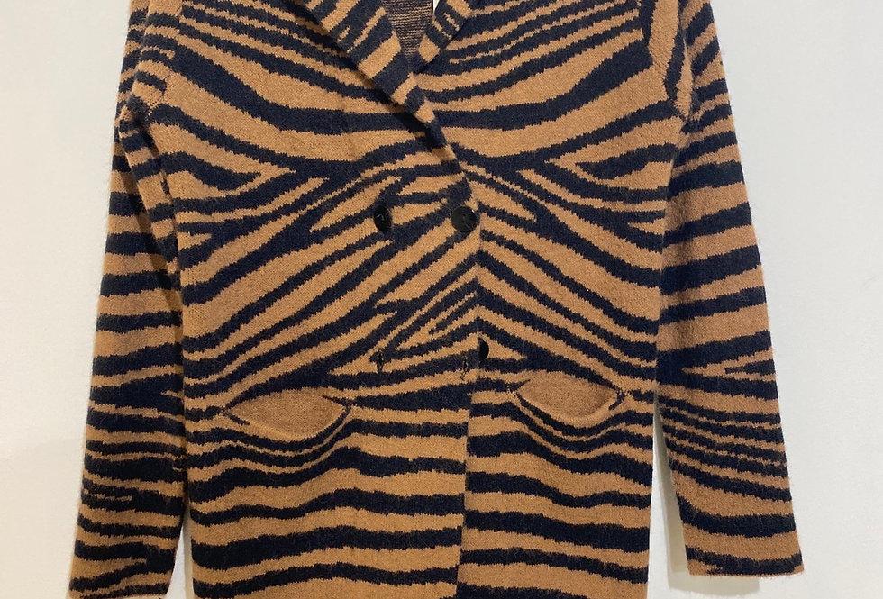 Alette Vest camel/zwart
