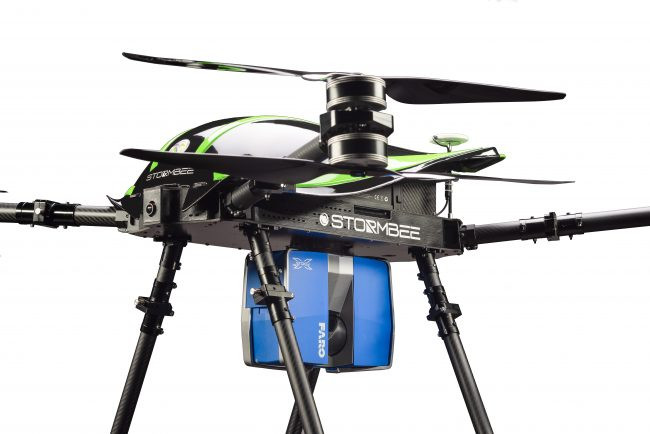 Aerial Lidar Drone Example – FARO X330 Scanner on Stormbee Drone