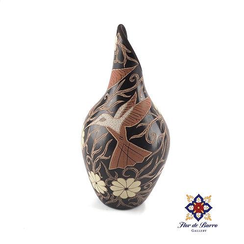 Elicena Cota:  Rose Hummingbirds Vase