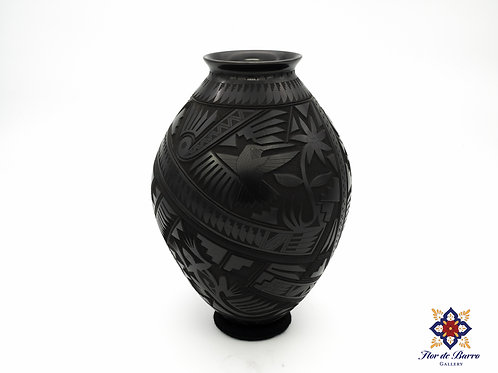 Engraved Olla by Martin Olivas