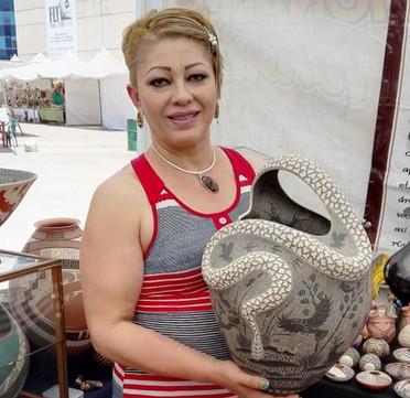 Olivia Dominguez with Snake Pot